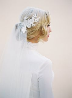 Juliet Bridal Wedding Veil Lace Cap Veil Ivory by veiledbeauty  Hand Crafted Bridal Veils and Accessories Designed by Kathy Banner - Made in the USA Shop Here: www.veiledbeauty.com  More Photos Here: https://www.facebook.com/theveiledbeauty https://twitter.com/#!/theveiledbeauty  http://instagram.com/theveiledbeauty http://pinterest.com/katjane/   Photo By Kurt Boomer