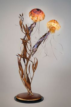 Jelly fish end table lamp Elegant!