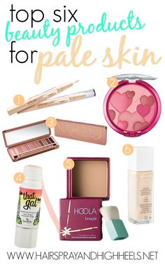 BEAUTY PRODUCTS FOR PALE SKIN