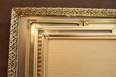 Antique Picture Frames. Gold Metal Picture Frames. by KLizVintage