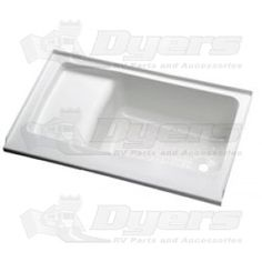 """For a really small bathroom Lyons 40"""" x 24"""" White Left Center Drain Step/Seat Tub"""