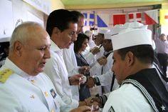 El gobernador del estado de Veracruzagradeció el apoyo de la Armada de México para caminar por la ruta del desarrollo.