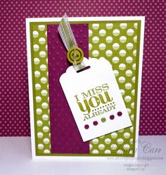Stampin' Up! Card - A Really Good Greeting Card.  by Diana Carr, The Secret Life of Paper Blog  #StampinUp #DianaCarr #secretlifeofpaper