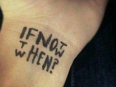 «si no es ahora¿Cuándo?»