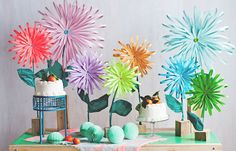 DIY Paper Flower Tabletop Display + Materially Crafted Book on decor8