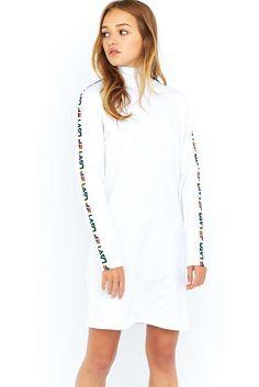 Fila Sara Turtleneck White Dress