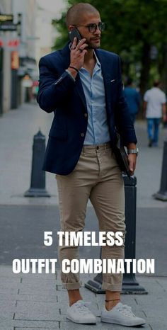 5 Awesome Timeless OUTFIT Combination. #mens #fashion