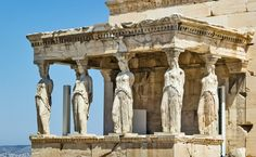 Erechtheum in an ancient Greek Temple. Beside the Parthenon in Athens. Ancient Greek Art, Ancient Greece, Ancient History, Art History, Greece Tourism, Greece Travel, Europe Tourism, Athens And Sparta, Rome Antique