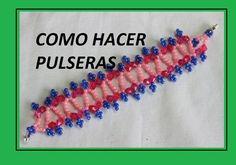 How to make beaded bracelets in Czech//PULSERA