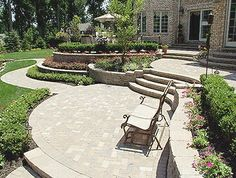Multi level patio with pavers instead of wood levels