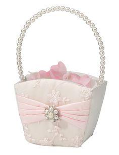 Blush Pink Flower Girl Basket