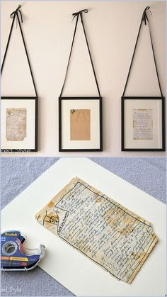 DIY Framed Family Recipes