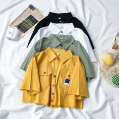 Cute Casual Outfits, Casual Shirts, Summer Outfits, Pant Shirt, Crop Shirt, Girls Fashion Clothes, Teen Fashion Outfits, New Look Fashion, Women's Flares