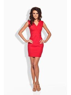 Dámske šaty bez rukávov LEMONIADE - červená Lady In Red b9f3a88fcf