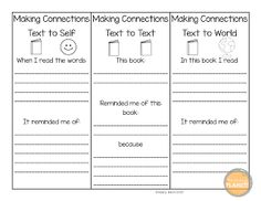 Text to text connections graphic organizer | Graphic Organizers ...