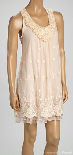 Cute Dress! This linen-blend dress would be adorable by itself, or layered with leggings, boots, and a cute sweater.