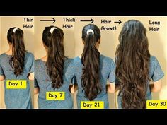 Today I will be sharing some Hair hacks every girl should know! How to grow your hair faster and longer! grow your hair with different hair tips and hair tri. Long Hair Tips, Grow Long Hair, Grow Hair, Long Hair Growing Tips, Tips For Thick Hair, Hair Care Tips, Medium Thin Hair, Medium Hair Styles, Long Hair Styles