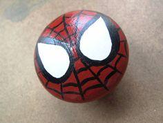 Spiderman Dresser Knob by HawkesHollow on Etsy, $6.00