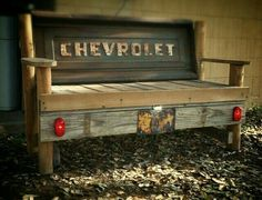 Discover recipes, home ideas, style inspiration and other ideas to try. Car Part Furniture, Automotive Furniture, Automotive Decor, Pallet Furniture, Rustic Furniture, Recycled Furniture, Handmade Furniture, Furniture Design, Man Cave Garage