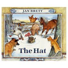 The Hat by Jan Brett - Board Book