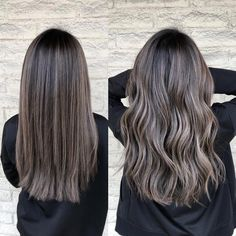 Ash brunette 🆒 Cut and color by ShadesEQ balayageombre l. Brown Hair Shades, Brown Ombre Hair, Brown Blonde Hair, Ombre Hair Color, Light Brown Hair, Hair Color Balayage, Brown Hair Colors, Hair Highlights, Ash Balayage