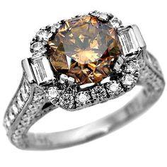 chocolate diamonds | 53ct Chocolate Brown Diamond Engagement Ring « Buy Jewelry Diamond ...