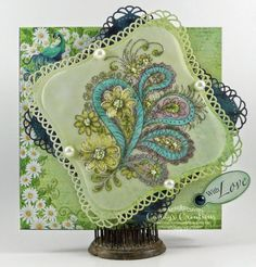 With Love Peacock Paisley Card by Candy S. - Cards and Paper Crafts at Splitcoaststampers