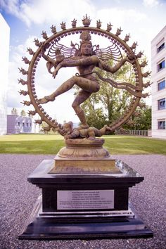 """What is the Holy Book of Hinduism? Nataraja (a form of the Dancing Shiva) at CERN ~ Inscription: """"O Omnipresent, the embodiment of all virtues, the creator of this cosmic universe, the king of dancers Hindu Deities, Hinduism, Switzerland Tourism, Geneva Switzerland, Shiva Statue, Nataraja, Indian Temple, Lord Shiva, Religious Art"""