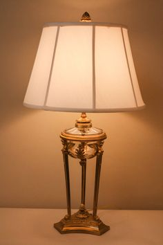 19th Century French Bronze Table Lamp featuring a design in the empire style.