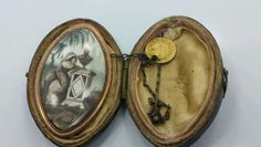 1700s-GEORGIAN-MOURNING-GOLD-SEPIA-AND-COLOR-Brooch-Pendant-with-Original-Case