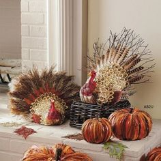 20-Handmade-Fall-Harvest-Fan-Tail-Turkey-Thanksgiving-Indoor-Display-Prop-Decor