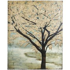 Enduring Tree Art - Gray and yellow, perfect for my yellow guest room at the new house!