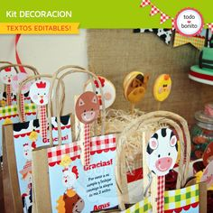 Granja: decoración de fiesta para imprimir Party Animals, Farm Animal Party, Farm Animal Birthday, Farm Birthday, 2nd Birthday Parties, Farm Themed Party, Barnyard Party, Farm Party, Party Fiesta