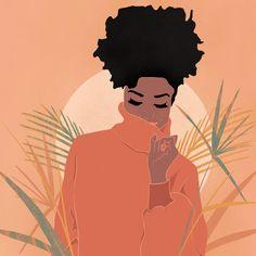 Sunrise Mini Art Print by covetlines Black Love Art, Black Girl Art, Art Girl, Illustrations, Illustration Art, Arte Sketchbook, Black Artwork, Afro Art, Magic Art