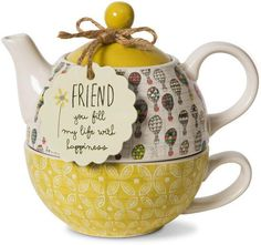 Friend you fill my life with happiness - Teapot & Cup Combo Teapot & Cup - MugThis.com