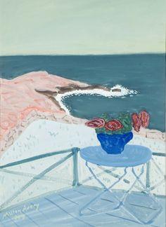 Milton Avery (American, Red Flowers on a Terrace by the Sea, Gouache on paper, 30 x in. source via jesuisperdu Mark Rothko, Henri Matisse, Gouache, Illustrations, Illustration Art, Arthur Dove, Red Flowers, American Art, Online Art