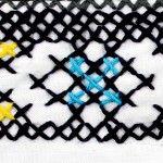 'Reversible Cross Cuff' cuff by Leila Sanderson