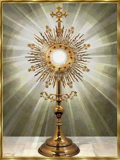 """by-grace-of-god: """" Blessed be Jesus in the most Holy Sacrament of the Altar. Catholic Prayers, Catholic Art, Catholic Saints, Roman Catholic, Adoration Catholic, Catholic Memes, Catholic Online, Holy Hour, La Salette"""