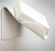 Preserve your soap with this sloped soap dish.