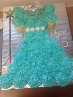 Princess Elsa Cupcake Dress Blue