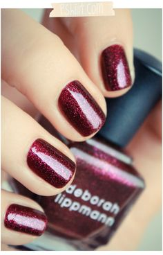 Deborah Lippmann GOOD GIRL GONE BAD bold cabernet glimmer #ShowofHands