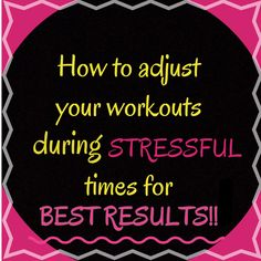 If you have been working out and you don't feel like you're getting the results you should, some of the things in this post could be preventing you.....  Stress and sleep.. and more, see how....