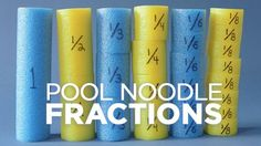 Learn how to teach a fun fractions lesson using pool noodles. This DIY math manipulative makes it easy for students to visualize fractions. And pool noodles . Fourth Grade Math, 3rd Grade Classroom, Math Classroom, Classroom Decor, Future Classroom, Creative Classroom Ideas, Teaching Fractions, Math Fractions, Teaching Math
