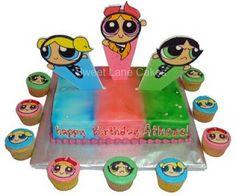 Powerpuff Girls Party Theme Cake