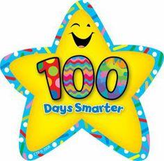 100-days-smarter-star  #100thday #Ideas #School