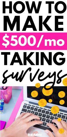 Teens online surveys for money ; Make Money Taking Surveys, Surveys That Pay Cash, Online Surveys For Money, Paid Surveys, Make Money Online, Survey Money, Earning Money, Make Money Fast, Make Money From Home
