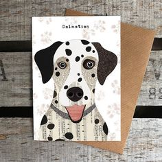 going to frame these cards  Dalmatian dog greetings card by SimonHartArtist on Etsy