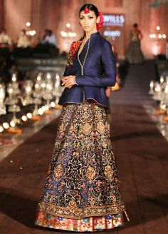 Lehenga from Rohit Bal's 'Gulbagh' collection, inspired by the rich and lush Mughal gardens of Kashmir