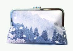Bridal Clutch Purse In Lilac Blue Pink And by SimplySilkScarves