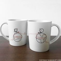 """BoldLoft Long Distance Relationship Gifts for Long Distance Couples-""""You're Worth Every Mile"""" His and Hers Matching Couple Coffee Mugs. #longdistancerelationship #ldr #couplegifts"""
